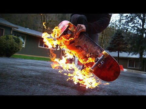 BTS | Skateboarding on FIRE in the RAIN & THUNDER STORM