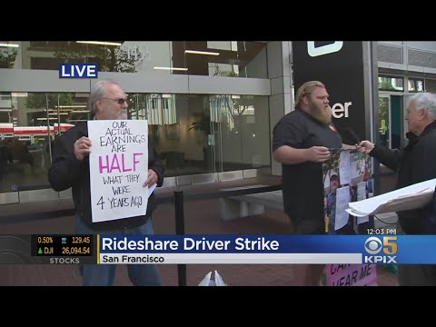 Drivers Protest In San Francisco During Uber/Lyft Strike