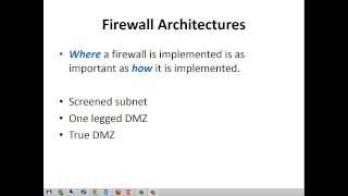IST 815 Firewall Architectures
