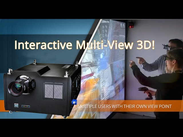 Multi-View 3D Projector Lets Viewers Interact and Collaborate in 4K!