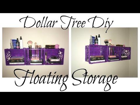 DOLLAR TREE DIY FLOATING STORAGE