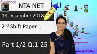 NTA UGC NET 18 December 2018 2nd Shift Paper 1 (Part 1/2 Q.1-25): Answers, Solutions & Explanations
