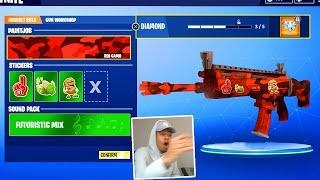 *NEW* CAMOS and GUN SKINS in Fortnite! (Fortnite Weapon Workshop Camo System)