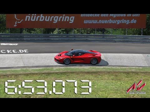 Assetto Corsa - 2015 Ferrari LaFerrari - Nürburgring Nordschleife Lap Times - 6:53.073