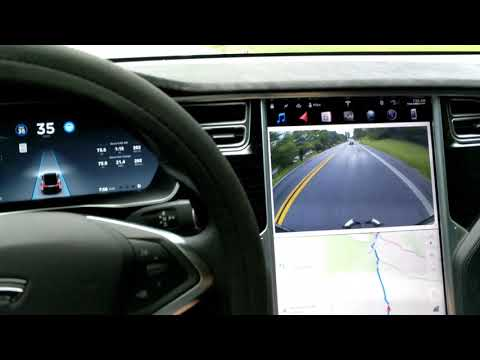 TESLA 🚗 AutoPilot vs. Green Valley Road | Monrovia