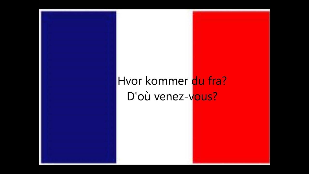 Lær Grundlæggende franske sætninger på to minutter