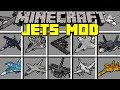 Minecraft JETS MOD! l FLY 100+ NEW MILITARY JETS! l Modded Mini-Game
