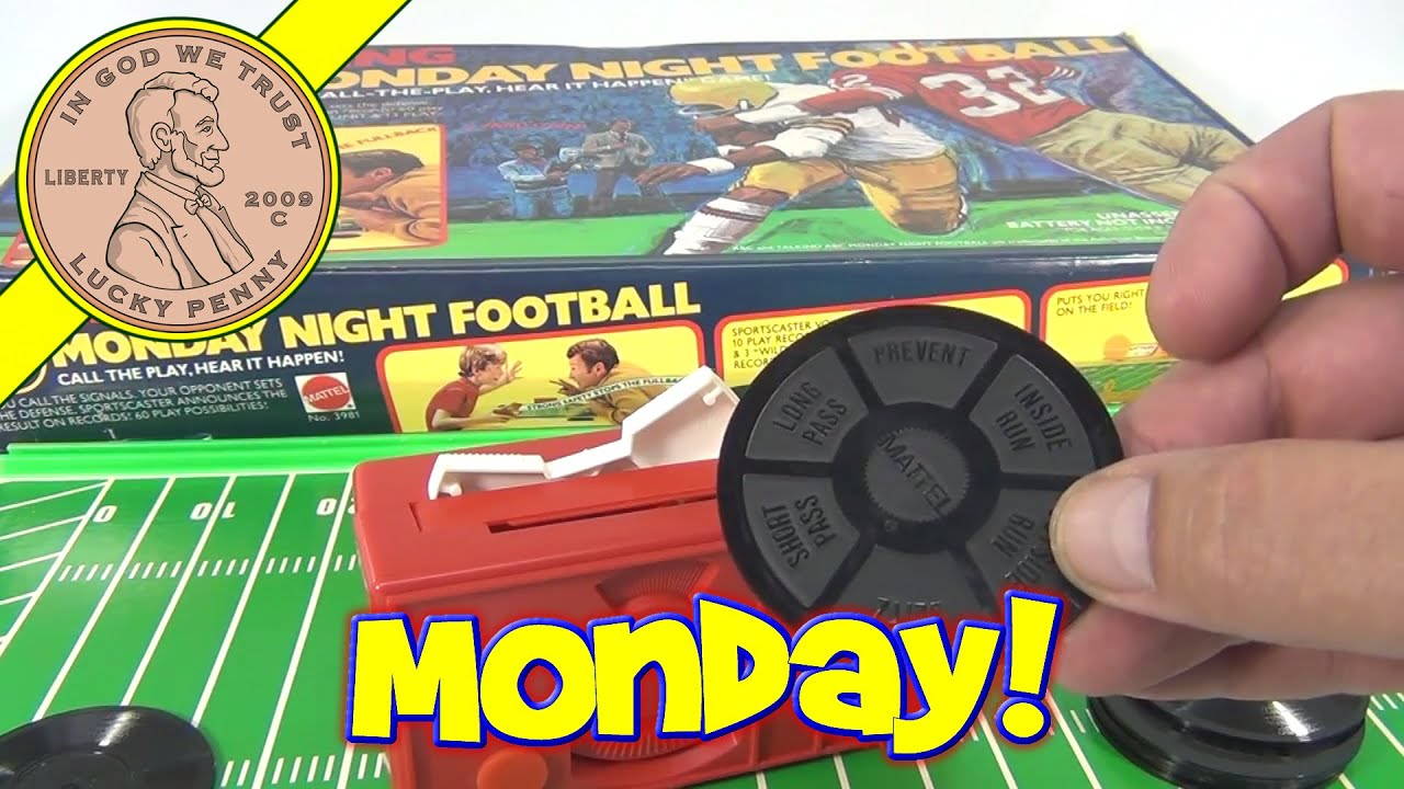 ABC Sports Talking Monday Night Football Board Game 1977 by