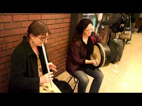 Irish Low Whistle and Bodhrán - Autumn Rhodes and Patricia Ross