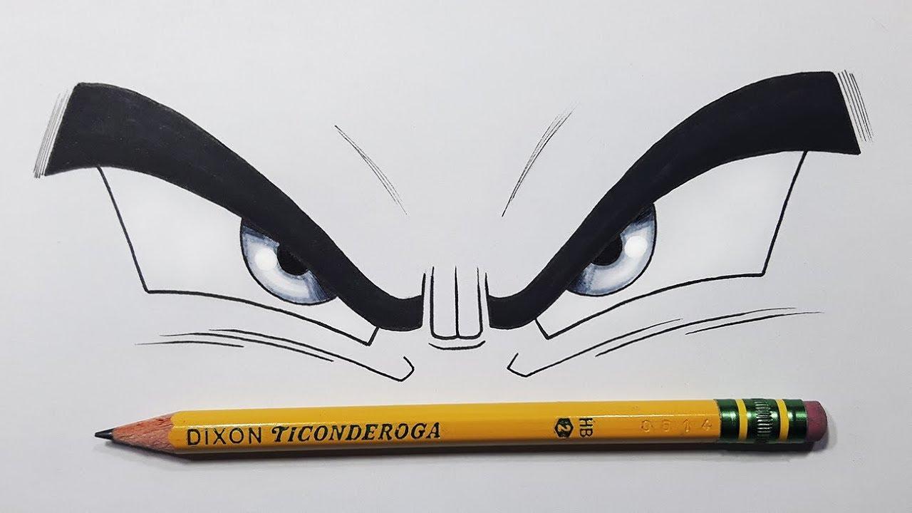 How to draw goku 39 s ultra instinct eyes step by step tutorial youtube - Goku ultra instinct sketch ...