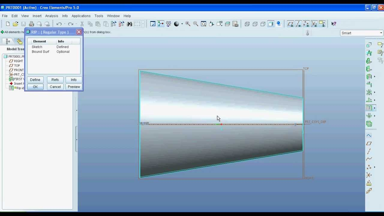 Pro E Creo How To Unfold Or Unbend Object In Sheet Metal