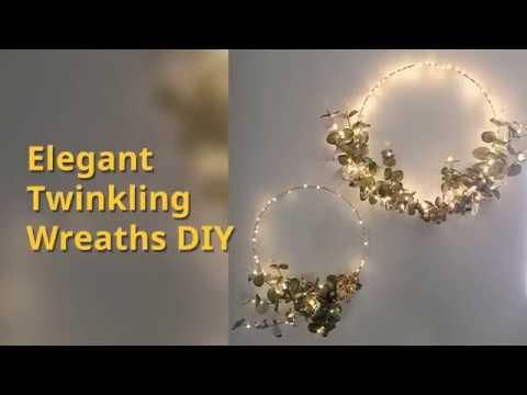 DIY Fairy Lights Twinkling Wreath Tutorial