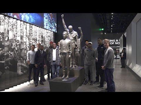 Warriors Visit African American History Museum