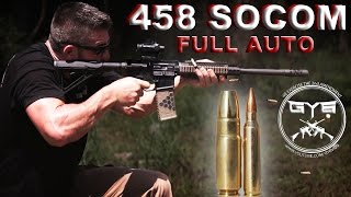 458 Socom FULL AUTO vs. Meat & Gel [GY6 Ballistic Test #25]