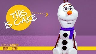 How To Make Olaf from Frozen out of Cake | Step By Step | How To Cake It | Yolanda Gampp