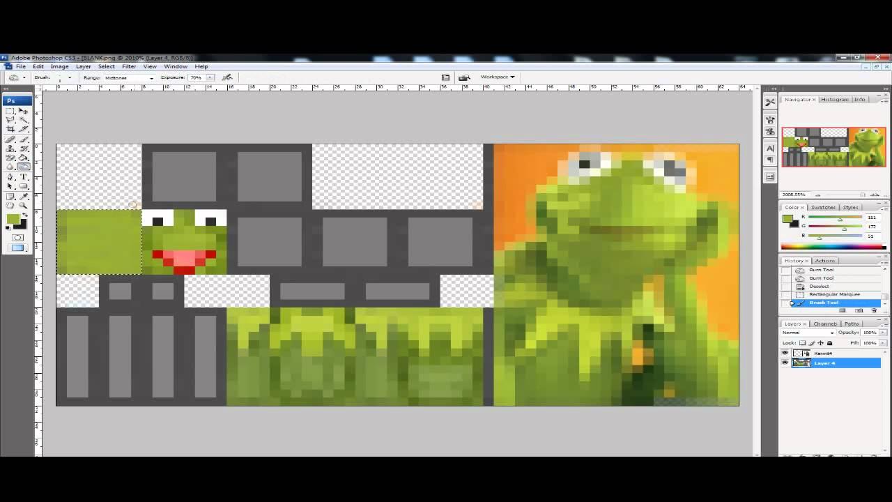 Minecraft Skin - Kermit The Frog (Muppet Show) - YouTube