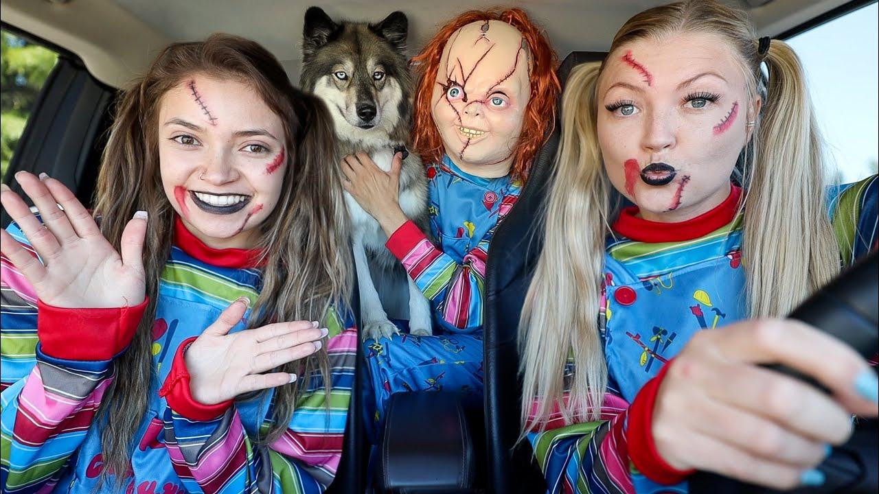 Chucky Girls Surprise Kakoa with Car Ride Chase!