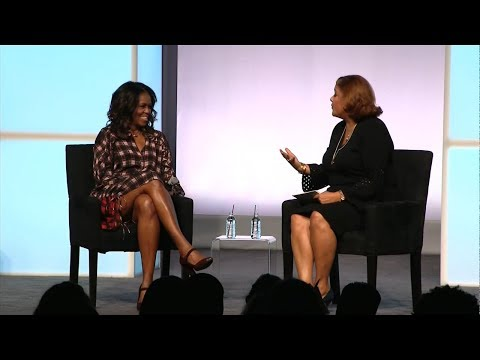 Former First Lady Michelle Obama speaks at Obama Foundation