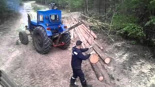 Погрузка леса Т 40