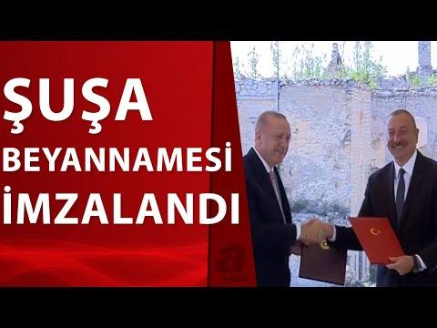 Başkan Erdoğan ile Azerbaycan Cumhurbaşkanı Aliyev, iki ülke arasında