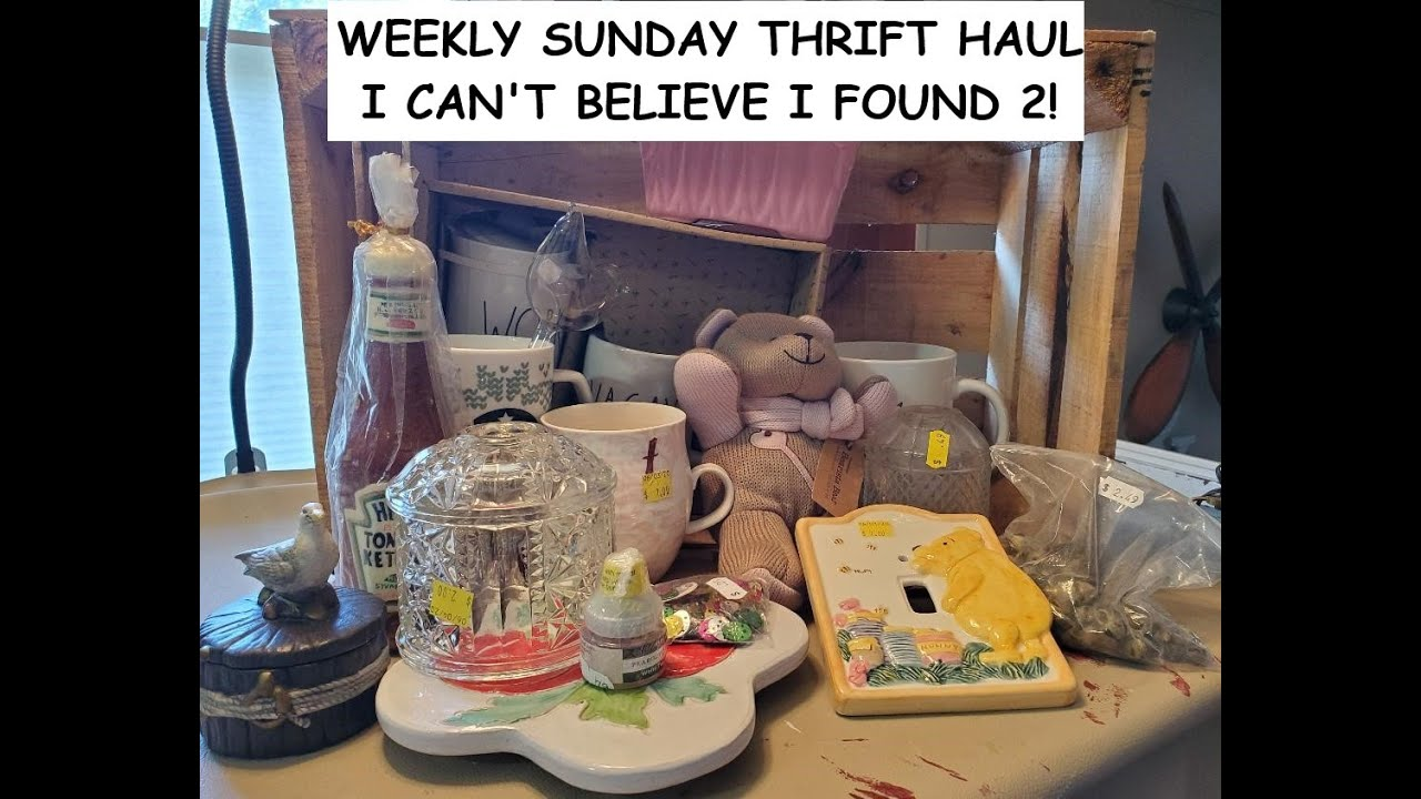 Weekly Sunday thrift haul - I can't believe I found 2!!
