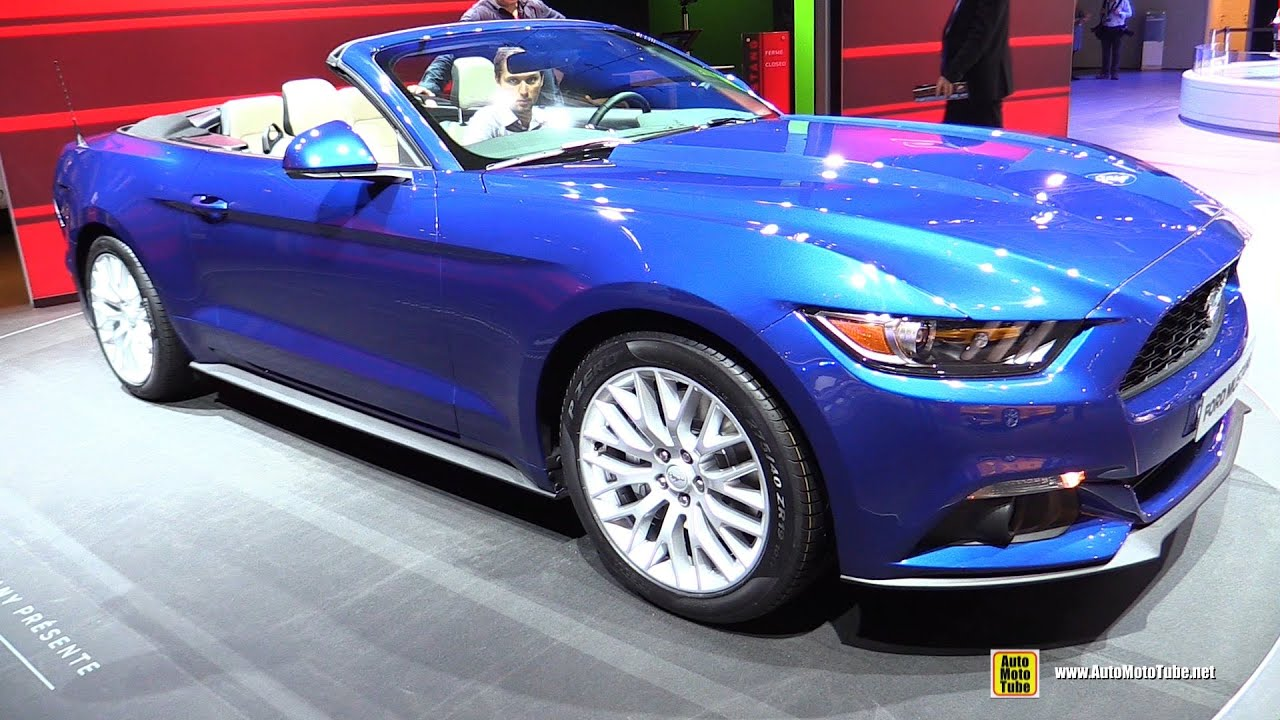 2015 ford mustang convertible exterior and interior walkaround 2014 paris auto show youtube - Ford Mustang 2015 Blue