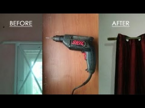 Curtain Rods best way to install curtain rods : How to use a drill to install curtain rods - YouTube