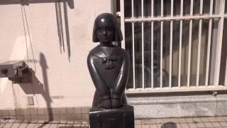 """日本国熊本県水俣市に設置されている """" 初恋の少女像 """" です。 平和と安..."""