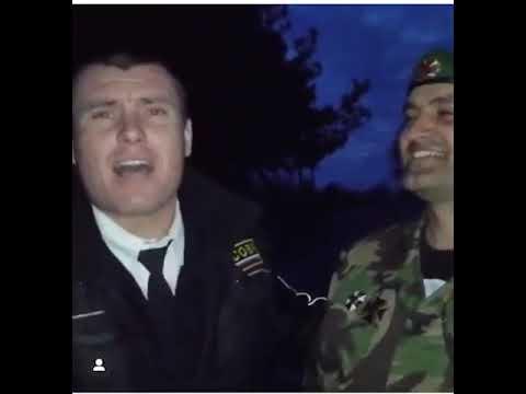 Русский боец СОБР-а исполняет зажигательную армянскую песню. День защитника Отечества 2020