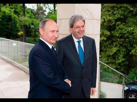 Il Presidente Gentiloni incontra il Presidente della Federazione Russa Putin