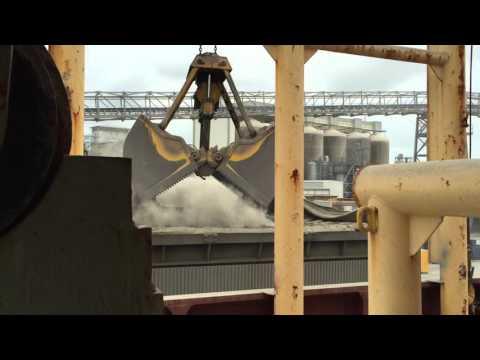 Cement Clinker Discharging at Brisbane.