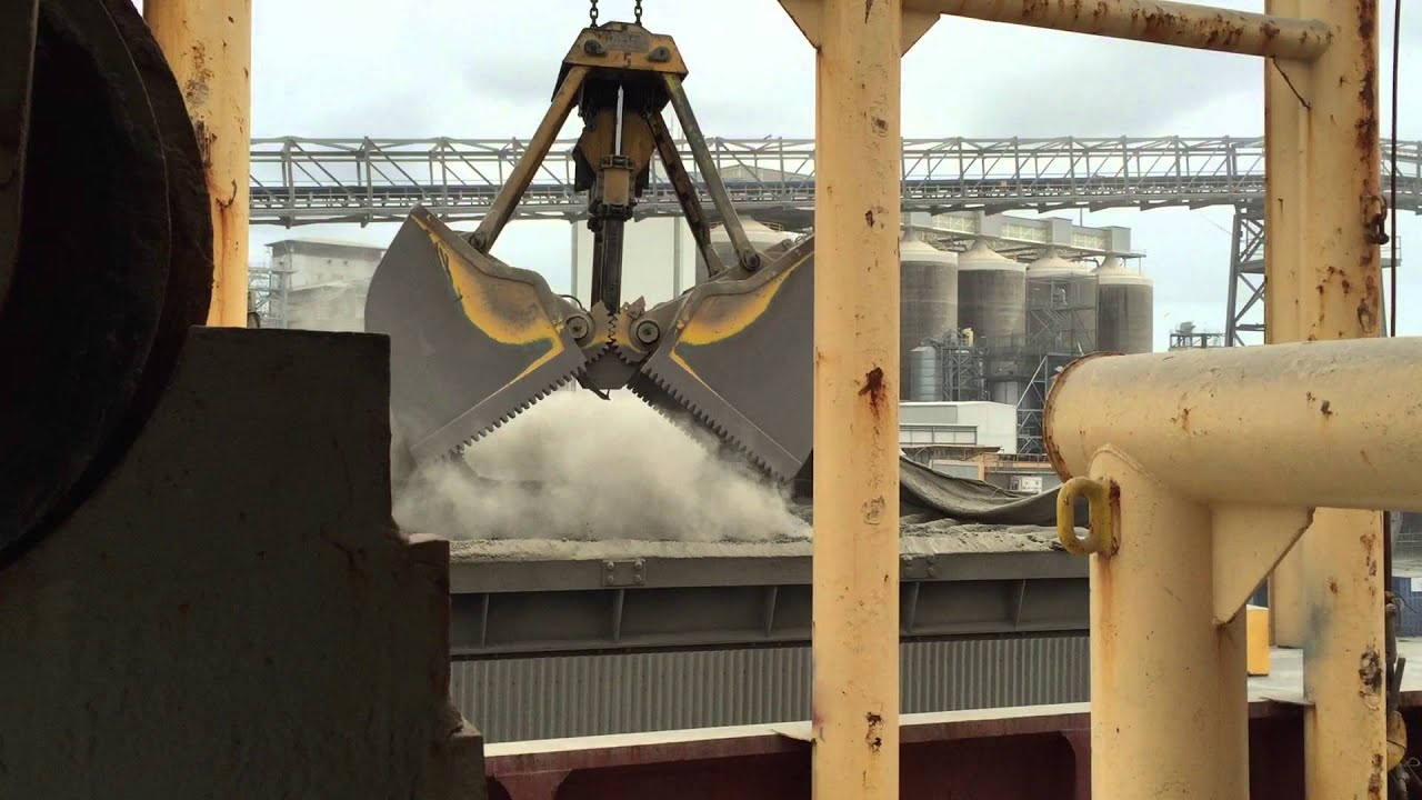Clinkers Cement Can Be Dissolved : Cement clinker discharging at brisbane. youtube
