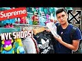 HYPEBEAST STREETWEAR SHOPPING in NEW YORK CITY! OFF-WHITE, SUPREME, BAPE!