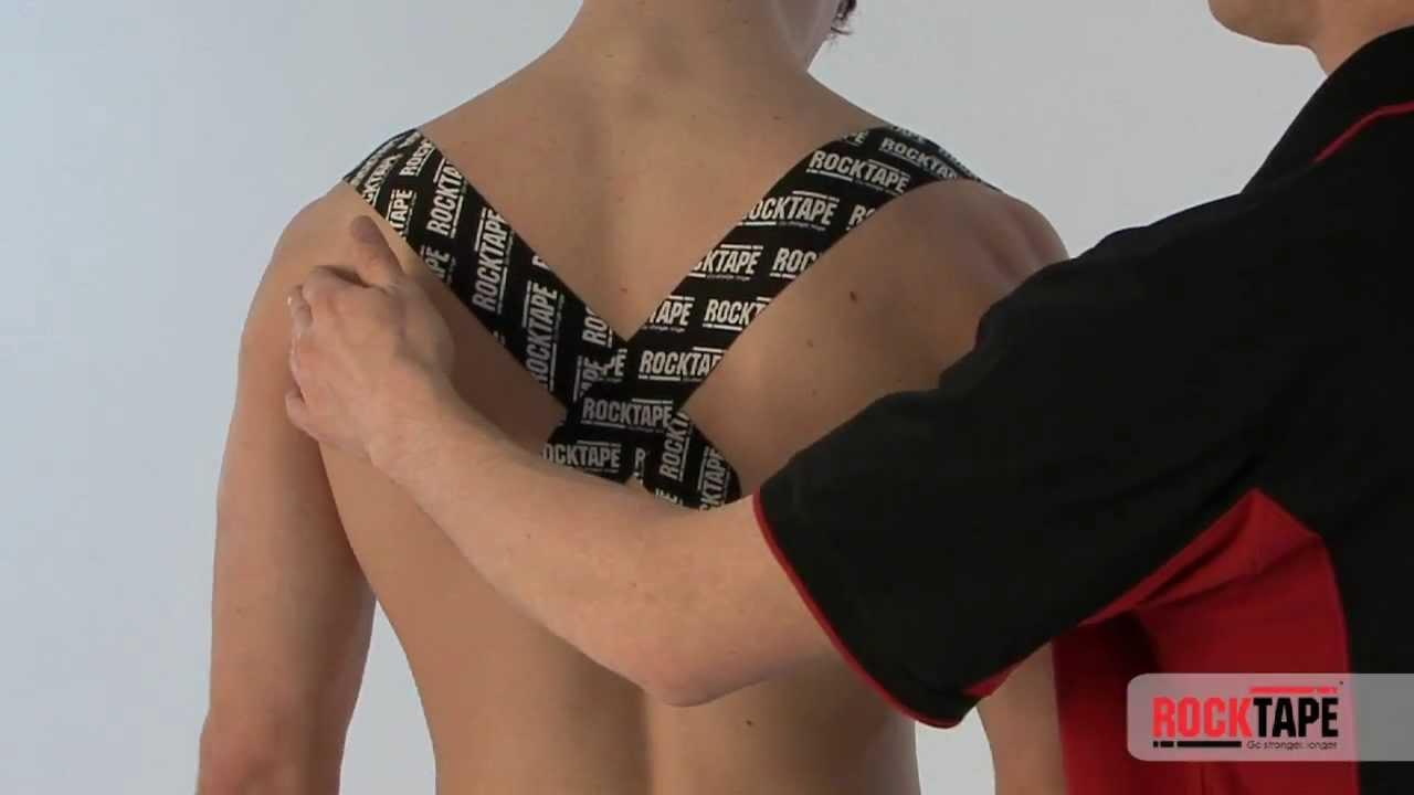 Rocktape - Posture Taping for shoulder blade(s) - YouTube