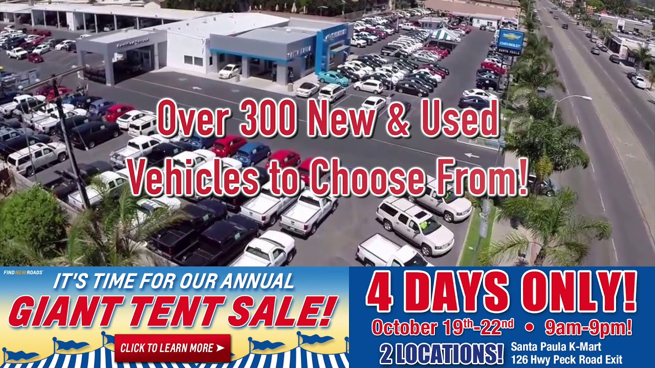 Santa Paula Chevy >> Santa Paula Chevy Giant Tent Sale 4 Days Only