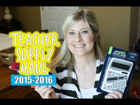 Teacher Supplies Haul | 2015-2016 School Year