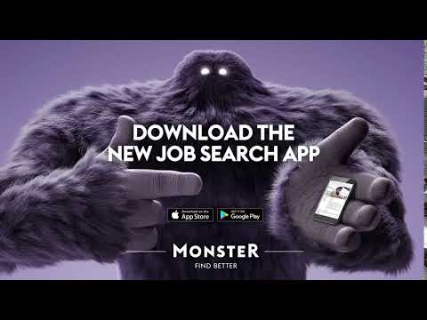 Unleash Monster with a Swipe - Monster Job Search App