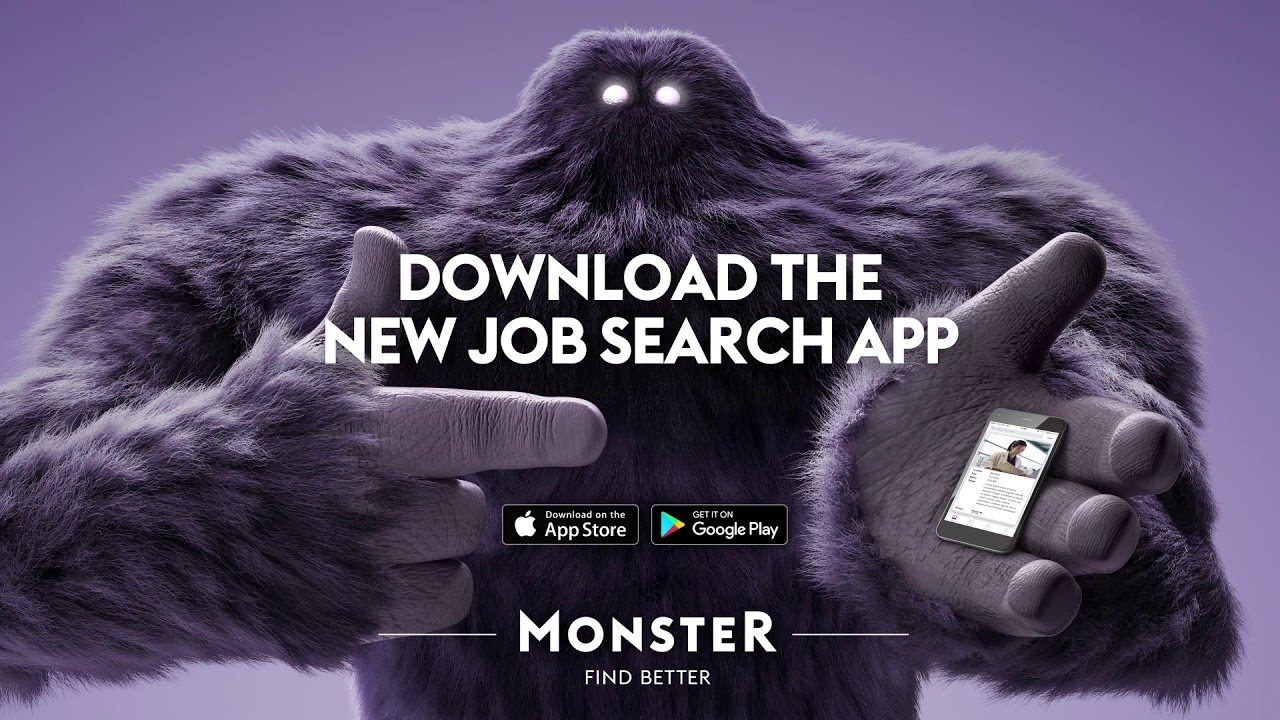 Unleash Monster with a Swipe - Monster Job Search App ...