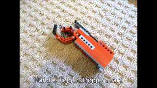 Lego Custom Sniper Rifle Instructions Part 1/2 (Working)