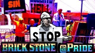 Gay pride 2014 - brick stone vs anti-gay preachers