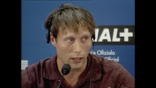 Mads Mikkelsen & Nikolaj Lie Kaas at OPEN HEARTS Press conference San Sebastian Film Festival