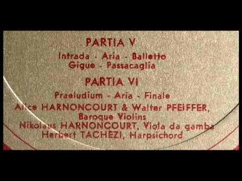 Von Biber / Alice Harnoncourt, 1964: Harmonia Artificiosa-Ariosa (1696) - Partia V