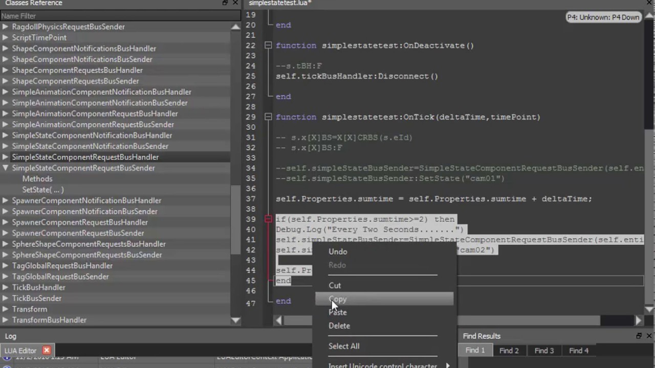 Lumberyard 1 5-Free Game Engine-SimpleState Component in the Lua  Editor-Easy to Learn
