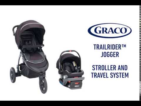 Graco Trailrider Jogger Stroller Travel System