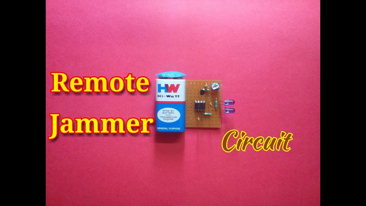 Remote Jammer Circuit Using 555 Timer Icsimple Project Youtube Mobile Diagram