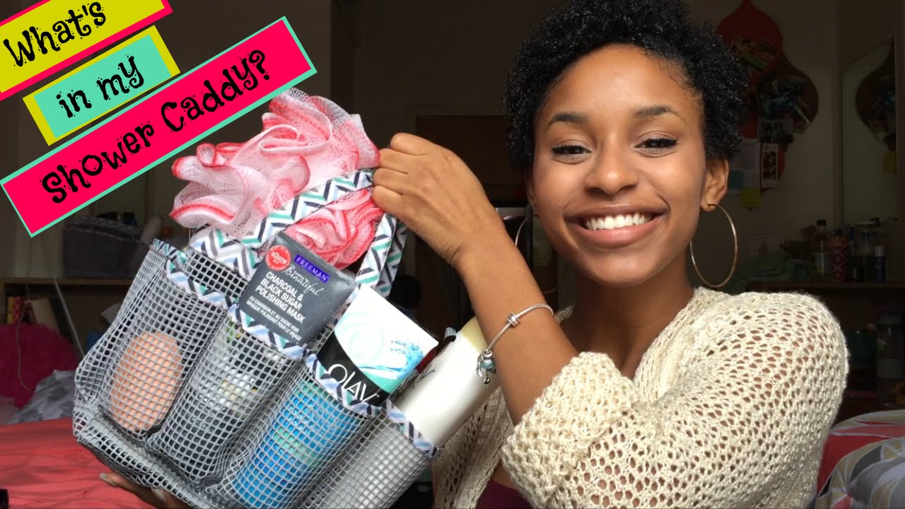 whatu0027s in my shower caddy tips for college