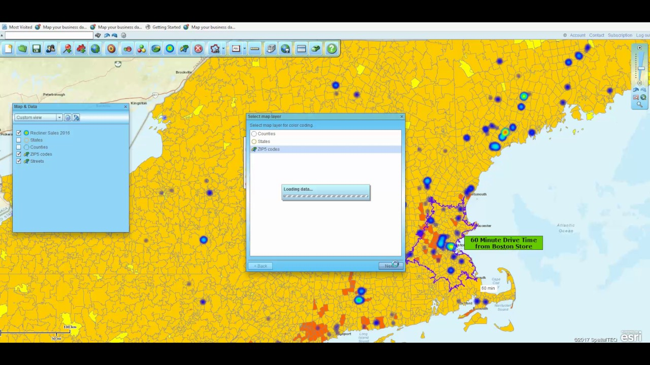 Using Heat Mapping for Retail Sales Analysis in Map Business Online