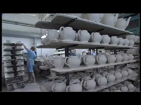Slip Casting at the Emma Bridgewater factory in Stoke-On-Trent, England
