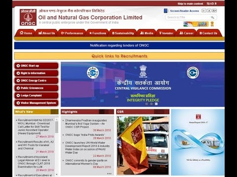 Oil & Natural Gas Corporation Limited  !! {Latest update 2018}