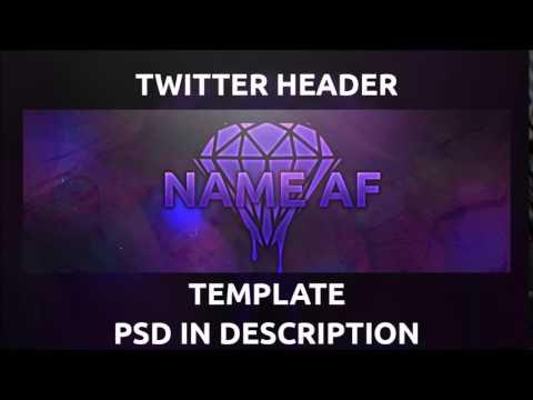 Free Abstract Twitter Header Avi Template Psd Customi
